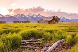 Grand Teton Mountains, Wyoming. foto