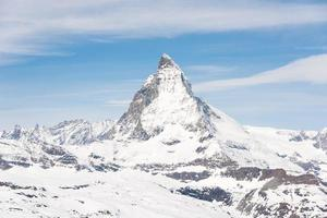 Das Matterhorn ist ein Berg der Alpen foto