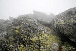 Felsbrocken im Nebel, Tatras