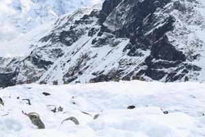 Denkmal von Trekker bekam Unfall am Everest