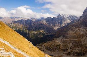 Panorama der Tatra Berge foto