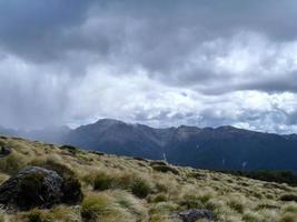 Regen auf den Bergen foto