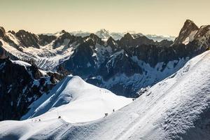 die alpen über chamonix foto