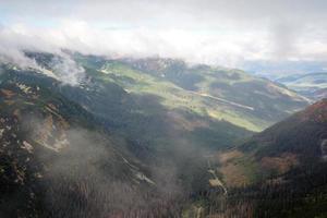 Blick von Volovec auf Tatra Berge foto