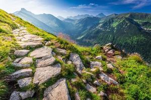 Tatras Berge bei Sonnenaufgang foto