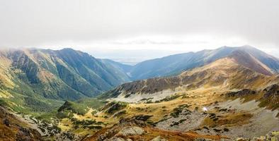 Blick vom ostry rohac Gipfel bei tatras