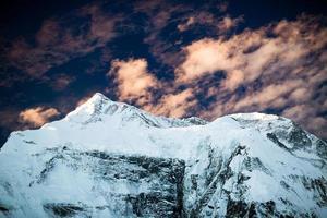 Berg inspirierende Landschaft, Annapurna Range Nepal foto