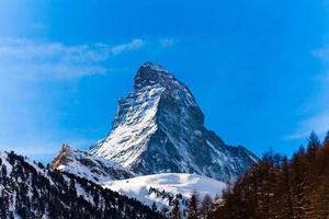 das matterhorn in der schweiz foto