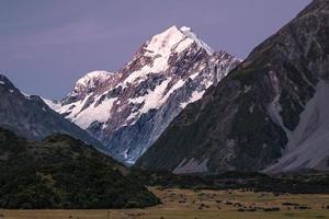 Aoraki / Mount Cook bei Sonnenuntergang foto