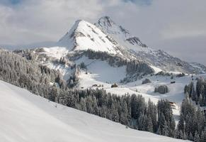 berg biberkopf, warth am alberg, vorarlberg, österreich foto