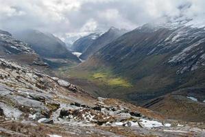 peru - Blick aus dem Tal der Cordillera Blanca in Anden
