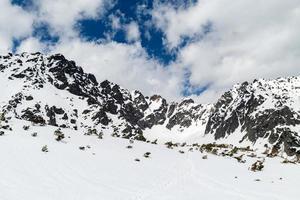 Berge schöne inspirierende Winterlandschaft, Tatras foto