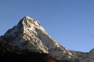 Blick von Poonhill, Nepal foto