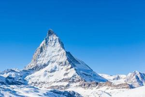 Nahansicht von Matterhorn an einem klaren sonnigen Tag