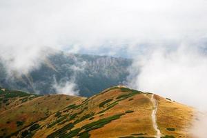 Klettern Volovec in Tatra Bergen foto