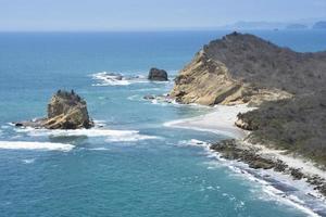 Los gebrechlicher Strand, Machalilla-Nationalpark (Ecuador)