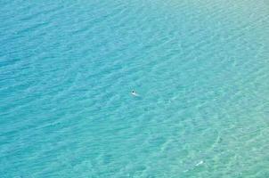 Frau im Ozean foto