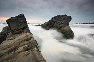 Hartland Quay, Devon, Großbritannien. foto