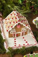 hausgemachte Süßigkeiten Lebkuchenhaus