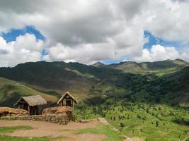 Dorf im heiligen Tal in Peru