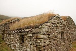 Hütte auf einer Orkney-Insel foto