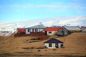 Häuser in ländlicher Gegend in Island