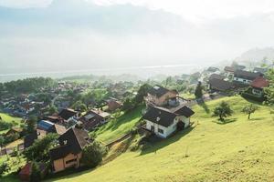 Blick auf die Häuser in Liechtenstein