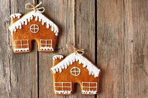 Weihnachten hausgemachte Lebkuchenhaus Kekse