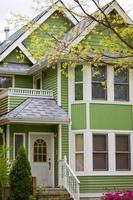 Einfamilienhaus in Vancouver, Kanada, im historischen Stadtteil Strathcona foto