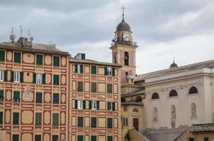 Camogli (Italien): Das Haus verfügt über farbige und dekorierte foto