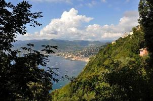 Blick auf Camogli, Italien