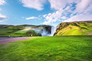isländischer Wasserfall foto