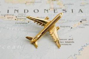 Flugzeug über Indonesien foto