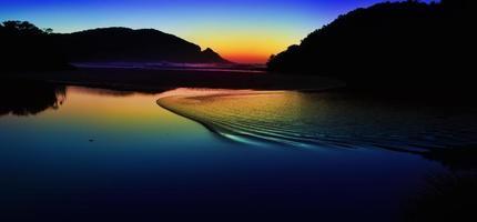 Tagesanbruch auf See