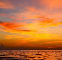 Sonnenaufgang Meer Thailand Kho Tao Bucht Südchina Meer foto