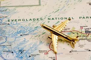 Flugzeug über Everglades foto