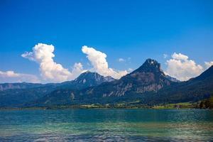Wolfgang See mit Sparber- und Bleckwandgipfeln sehen