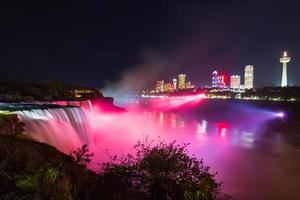 Die Niagarafälle, USA und Kanada grenzen an foto