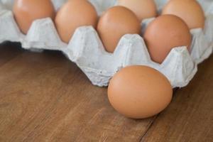 frische ländliche Eier foto