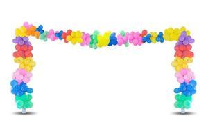 Gruppe mehrfarbiger Luftballons zur Dekoration