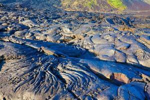 geschmolzene abgekühlte Lava