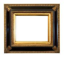 alter antiker vergoldeter Bilderrahmen foto