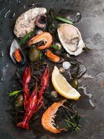 köstliche frische Meeresfrüchte foto