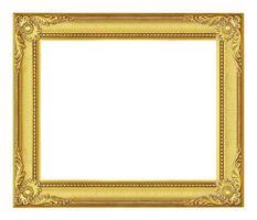 antiker Goldrahmen auf dem weißen Hintergrund foto