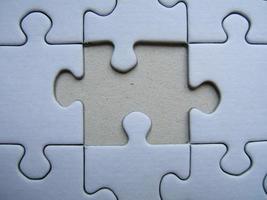 fehlendes Element eines Puzzles foto