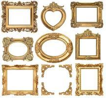 goldene Rahmen. antike Objekte im Barockstil foto
