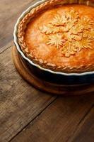 traditioneller amerikanischer hausgemachter Kürbiskuchen foto