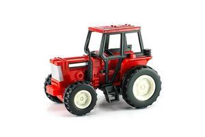 roter Bauernhofmotor foto