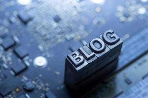 Social Media & Blog Icon von Letterpress foto