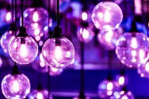 schöne Retro Glühbirne. foto